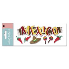 Jolee's Travel Dimensional Title Stickers- Mexico