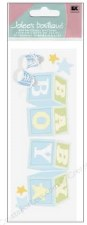 Jolee's Baby Dimensional Title Stickers- Baby Boy