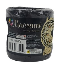 Macrame 3ply Jute, 75 yards- Black