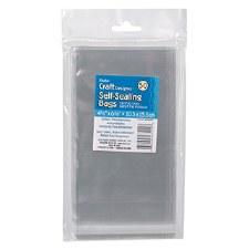 """Self Sealing Plastic Bags, 50ct- 4.125"""" x 6.125"""""""