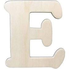 "Wood Letter, 4.25""- E"