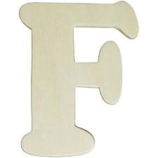 "Wood Letter, 4.25""- F"