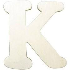 """Wood Letter, 4.25""""- K"""