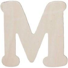 """Wood Letter, 4.25""""- M"""
