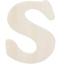 "Wood Letter, 4.25""- S"