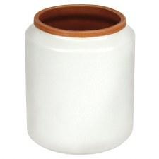"""White Max Vase, 4.25"""""""