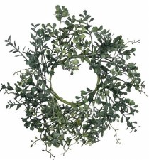 Blue Boxwood Wreath- 14""