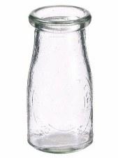 """4.5"""" Milk Glass Bottle"""