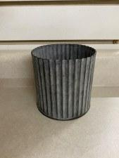 """Corrugated Tin Vase, 4""""x4"""""""