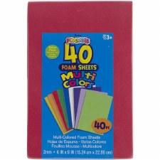 """Multi Color Foamie Sheets, 6x9""""- 40ct"""