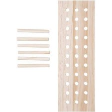 Wooden Pegboard Kit, 7pc- Rectangle