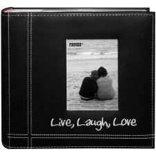 Pioneer 9x9 Photo Album- Leatherette, Live Laugh Love
