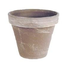 "5"" Dark Marlbed Clay Pot"