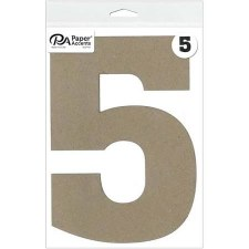 "8"" Chipboard Number- 5"
