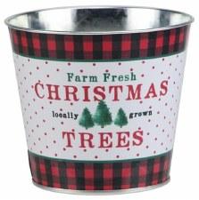 "5"" x 4.5"" Christmas Tree Pot - Tin"