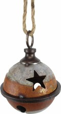 Galvanized Rustic Jingle Bell, 5""