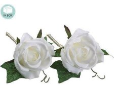 "White Rose Boutonniere, 5""- 2pk"