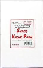 Super Value Pack Cards & Envelopes, 50ct- White