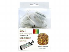 50ct. USB Music Lights - Multi Colored