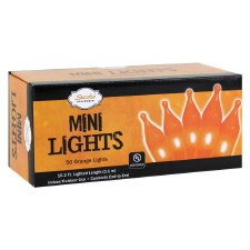 50ct Orange Mini Light Set