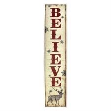 Believe Antiqued Sign