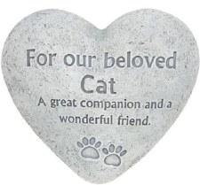 "6"" Heart Memorial Stone- Cat"