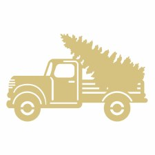"""Christmas Truck #5 MDF Cut Out- 6"""""""