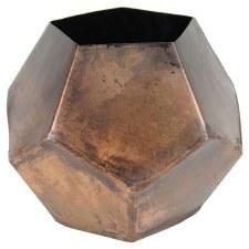 """Copper Rosebud Vase, 6"""""""