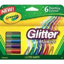 Crayola Glitter Markers, 6ct