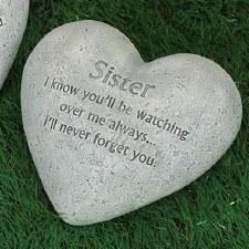 """6"""" Heart Memorial Stone- Sister"""