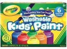 Crayola Washable Kids Paints, 6ct