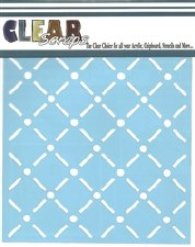 Clear Scraps 6x6 Stencil- Quilt