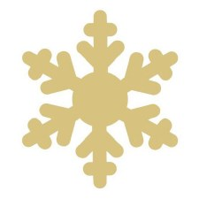 """Snowflake #2 MDF Cut Out- 6"""""""