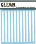 Clear Scraps 6x6 Stencil- Stripes