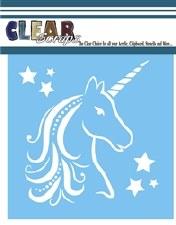 Clear Scraps 6x6 Stencil- Unicorn