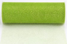 "6"" Glitter Tulle Roll, 10 yards- Apple Green"
