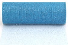 "6"" Glitter Tulle Roll, 10 yards- Ice Blue"
