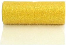 "6"" Glitter Tulle Roll, 10 yards- Lemon"