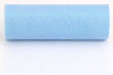 "6"" Glitter Tulle Roll, 10 yards- Light Blue"