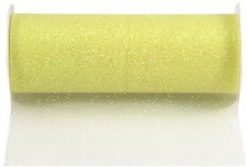 "6"" Glitter Tulle Roll, 10 yards- Yellow"