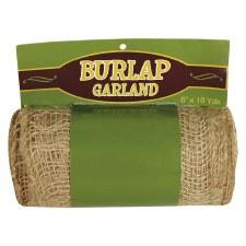 "6"" Burlap Garland- 10yds"