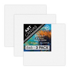 "6""x6"" Artist Stretched Canvas - Triple Pack"