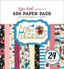 Alice In Wonderland 6x6 Paper Pad