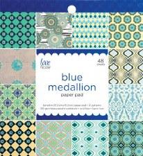 Love, Nicole 6x6 Paper Pad- Blue Medallion