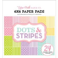 Dots & Stripes 6x6 Paper Pad- Spring