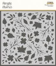 Cozy Days 6x6 Stencil- Falling Leaves