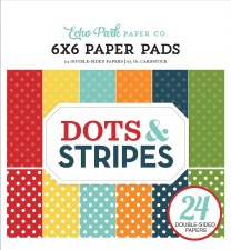 Dots & Stripes 6x6 Paper Pad- Summer