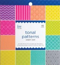 Love, Nicole 6x6 Paper Pad- Tonal Patterns