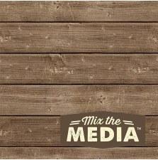 Mix the Media Wooden Plaque- 6x6