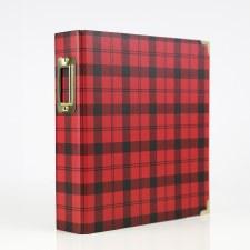 6x8 Red Plaid Album